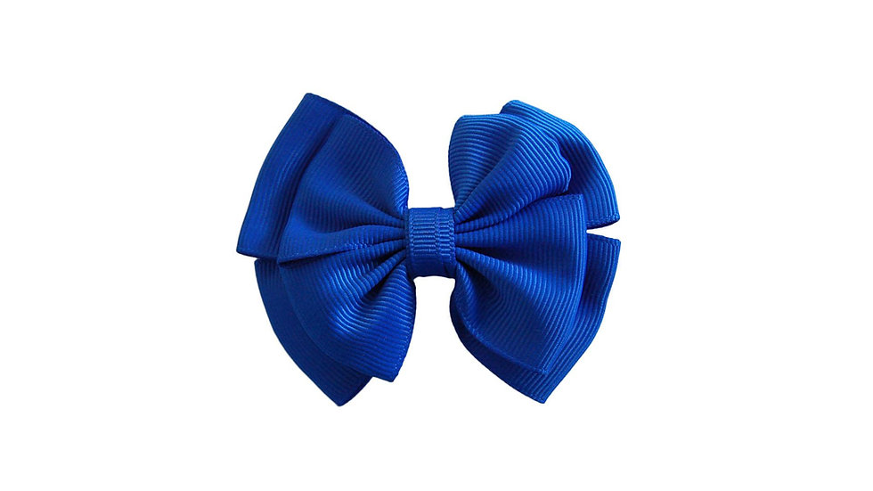 School hair clip royal blue