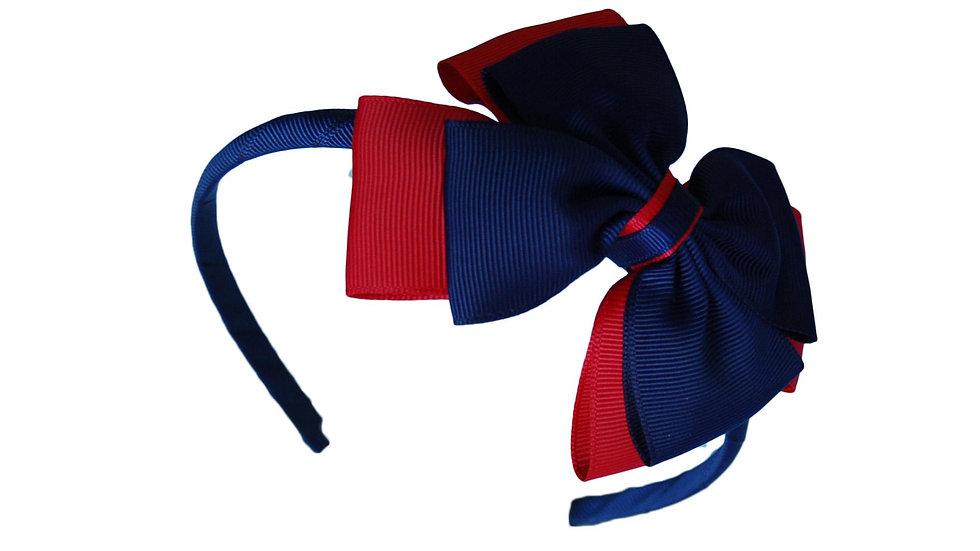 headband navy red