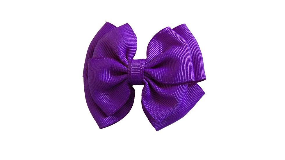 School hair clip purple