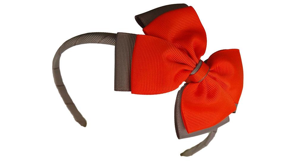 headband orange grey