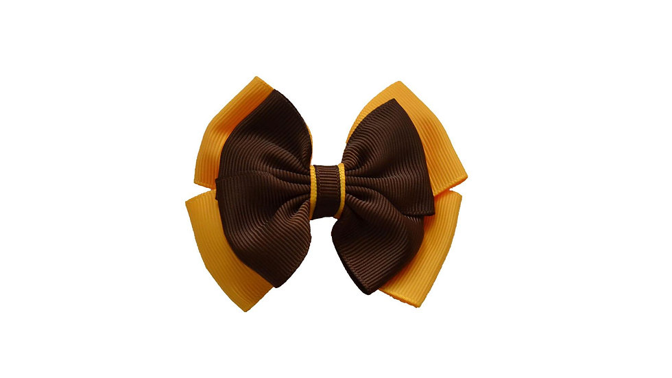 hair clip brown yellow