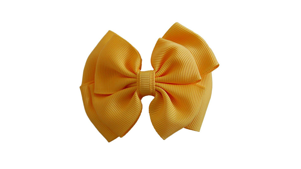 School hair clip yellow