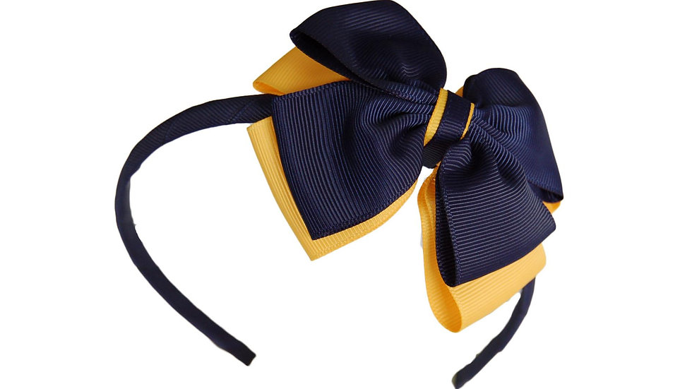 headband navy yellow