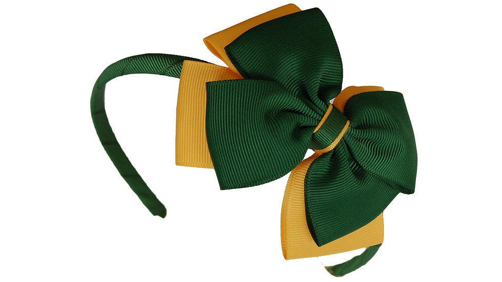 headband green yellow