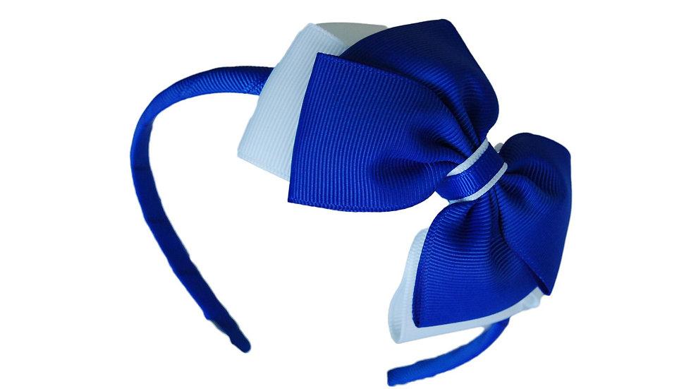 headband royal blue white