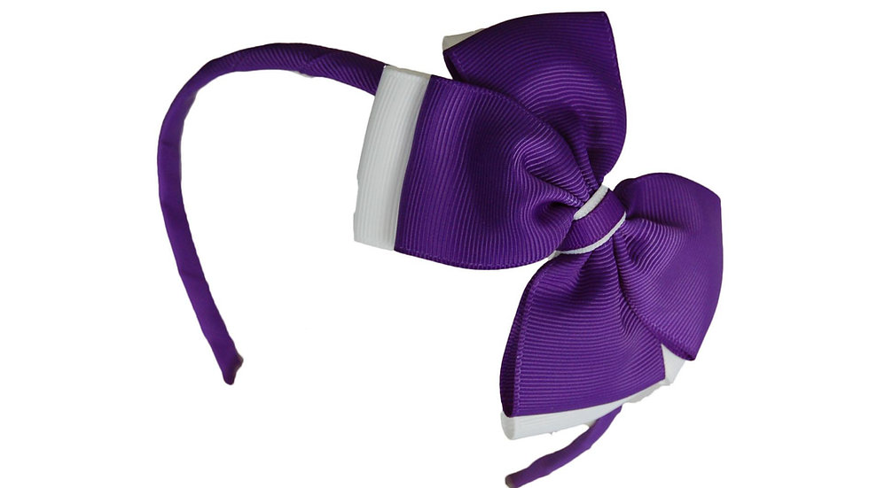 headband purple white