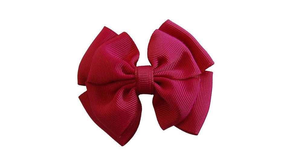 School hair clip maroon