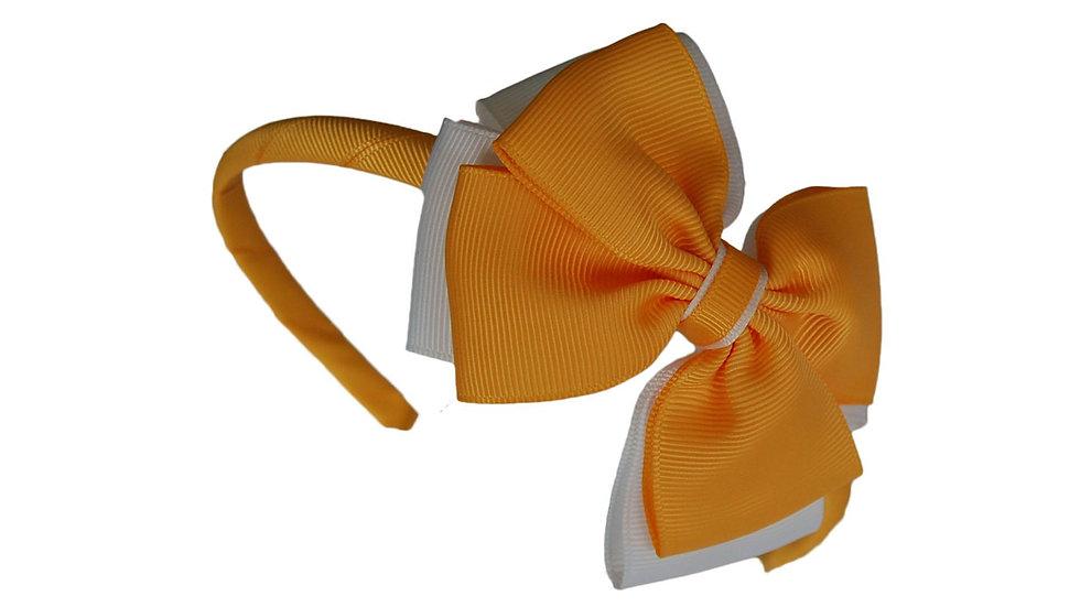headband yellow white