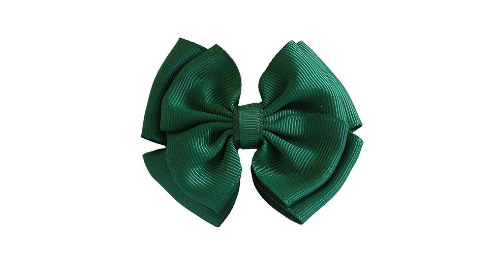 hair bow clip green