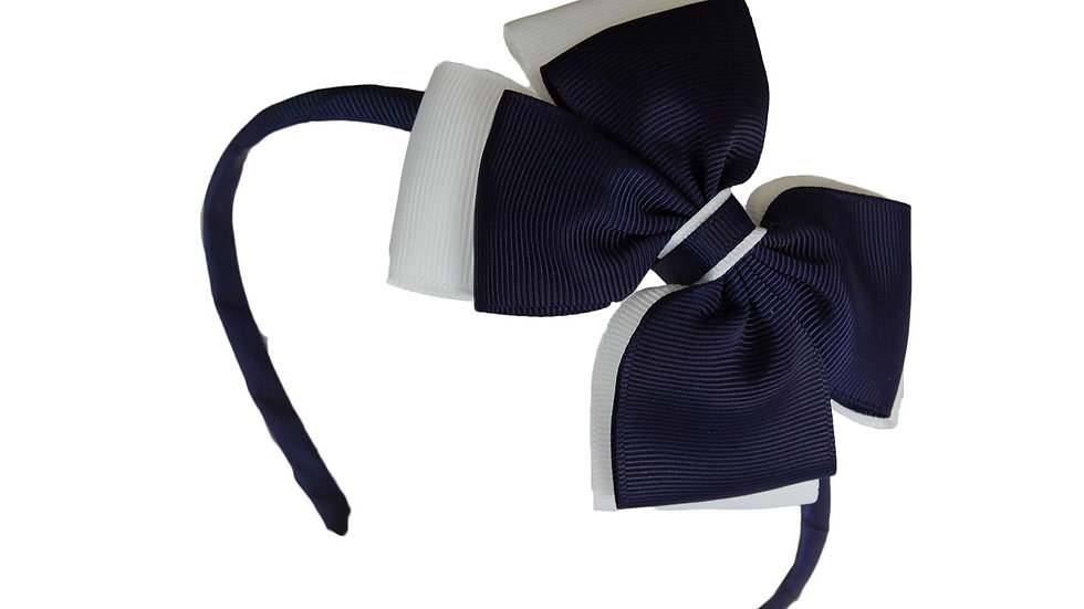 headband navy white