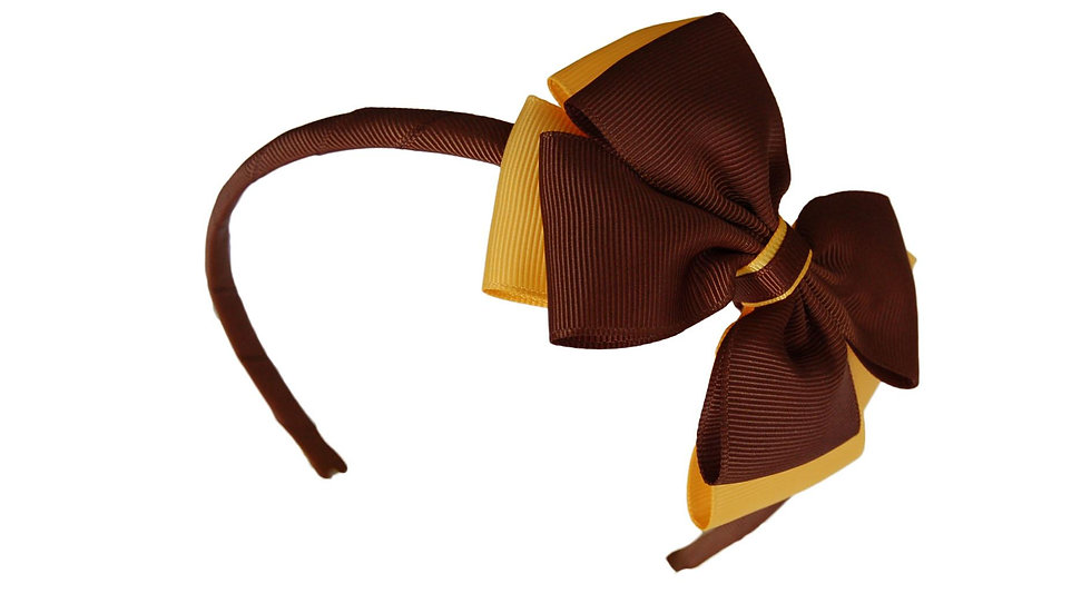 headband brown yellow