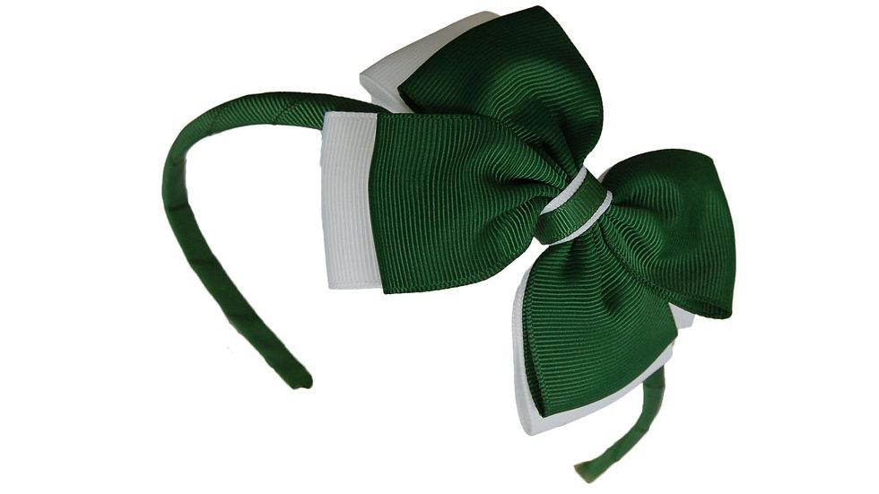 headband green white