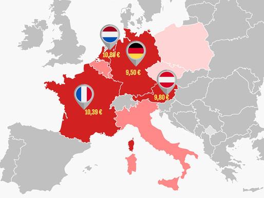 Minimalne zarade u Austriji, Francuskoj, Holandiji i Nemačkoj