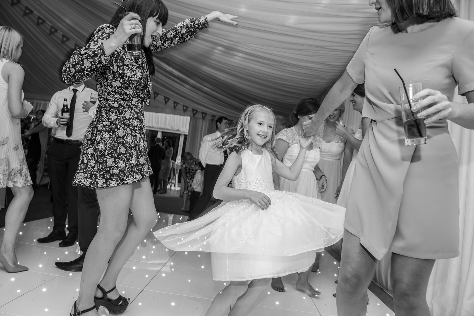 Girl twils on the dance floor
