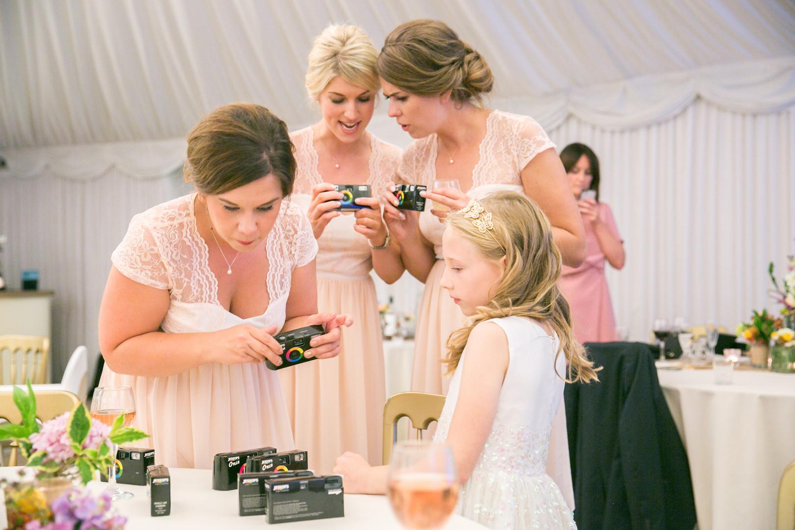 Bridal party disposable cameras