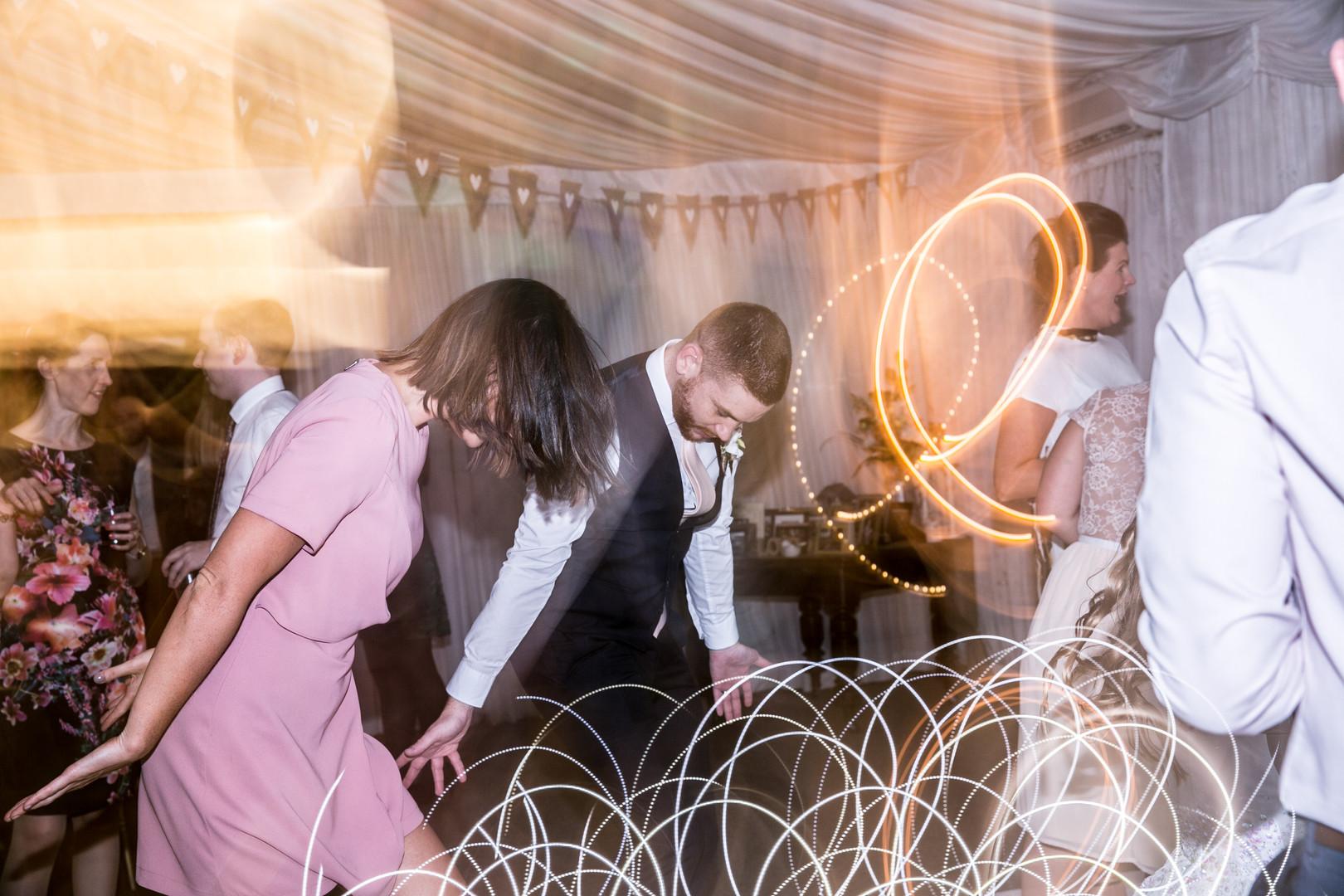 Dance, long exposure