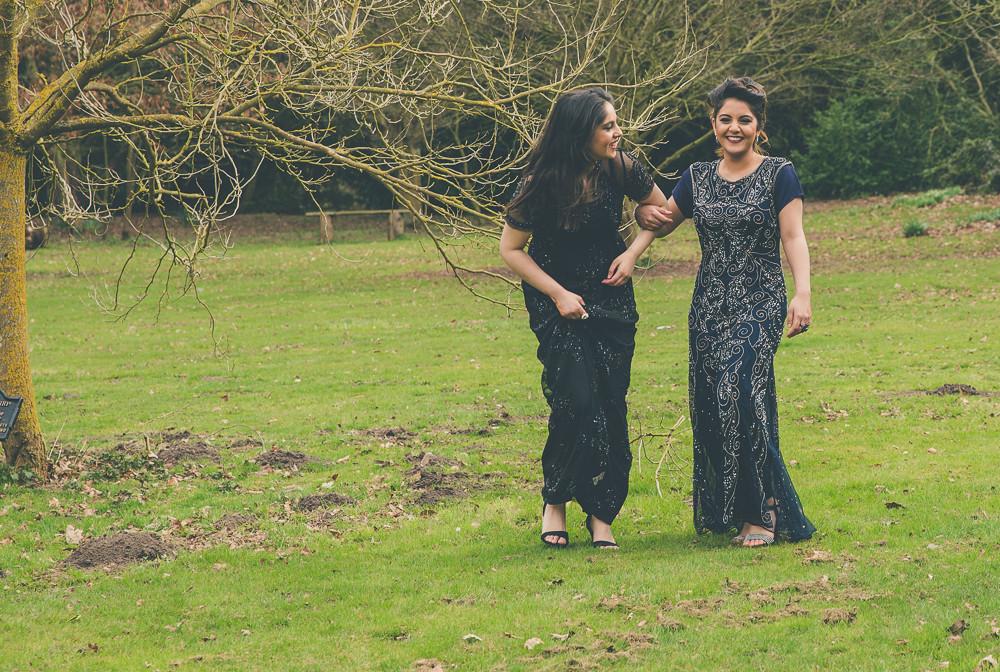 Bridemaids laughing