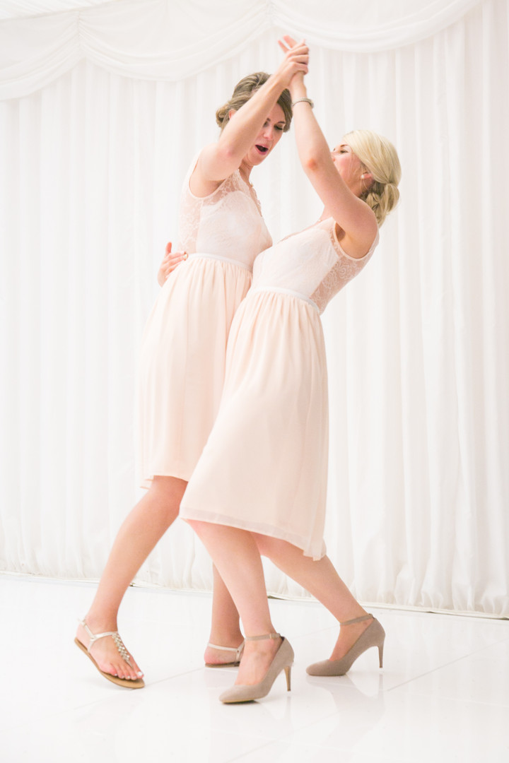 Bridesmaids on the dancefloor