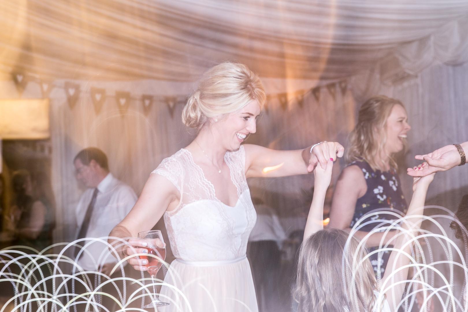 Wedding party on the dance floor