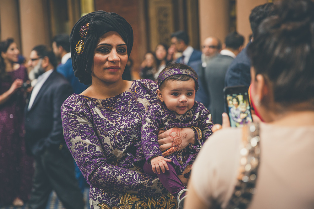 Beautiful mum and baby in matching Sari