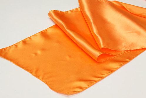 Orange Satin Table Runner