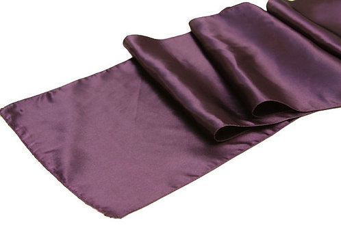 Plum Satin Table Runner