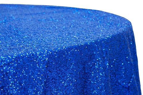 Royal Blue Glitz Sequins Table Linen