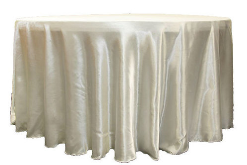Ivory Satin Table Linen
