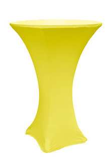 BrightYellow Spandex Cocktail Table Cover