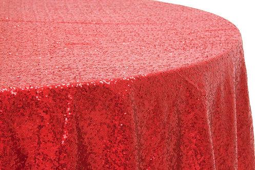 Red Glitz Sequins Table Linen