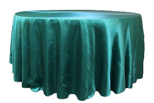 Dark Turquoise Satin Table Linen