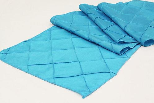 Aqua Blue Pintuck Table Runner