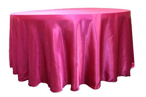 Fuchsia Satin Table Linen
