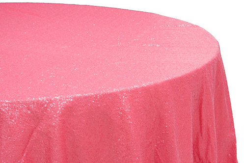 Coral Glitz Sequins Table Linen