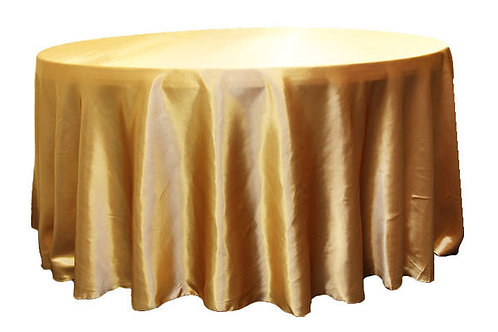 Gold Satin Table Linen