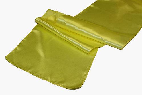 Yellow Satin Table Runner