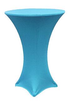 Aqua Blue Spandex Cocktail Table Cover