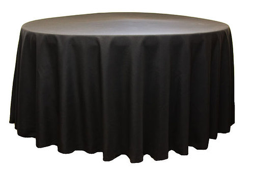 Black Polyester Table Linen