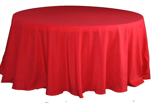 Red Polyester Table Linen