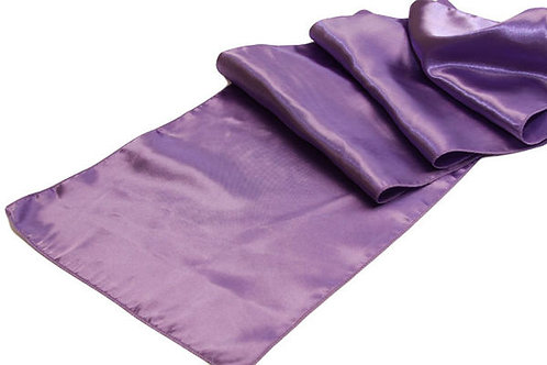 Victorian Lilac Satin Table Runner