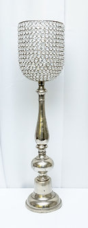 Silver Crystal Candle Stand