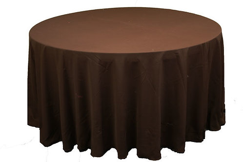 Chocolate Polyester Table Linen
