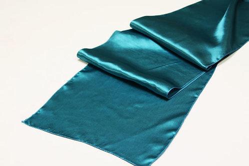 Dark Turquoise Satin Table Runner