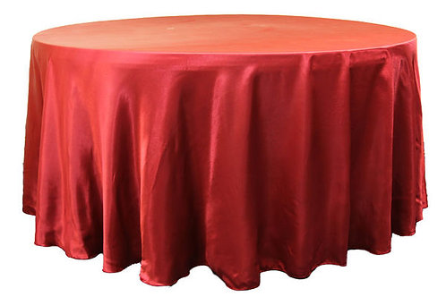 Apple Red Satin Table Linen