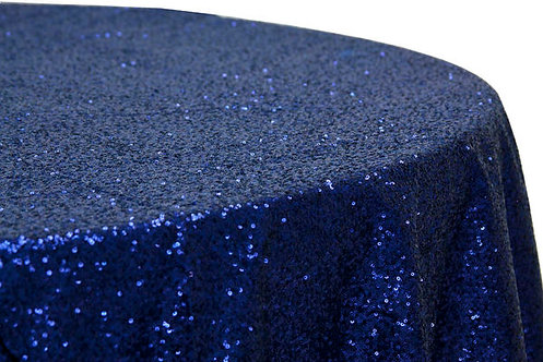 Navy Blue Glitz Sequins Table Linen