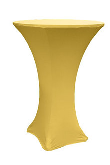 Gold Spandex Cocktail Table Cover