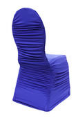 Royal Blue Spandex Ruched Chair Covers