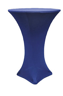 Navy Blue Spandex Cocktail Table Cover