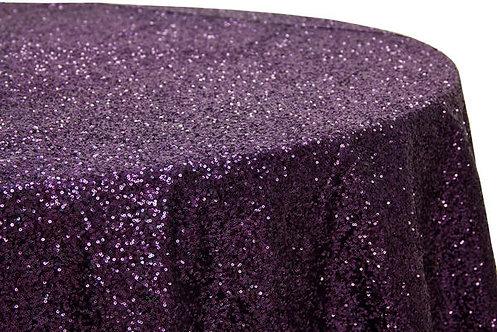 Plum Glitz Sequins Table Linen