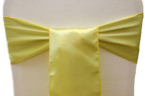 Yellow Satin Chair Sashes